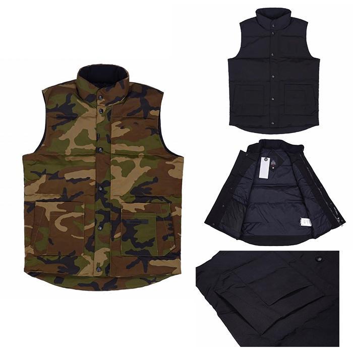 masculina de inverno de espessura mangas mangas Coletes coreano moda refrigeram quente para baixo homens além de veludo Thicken Camouflage Vest