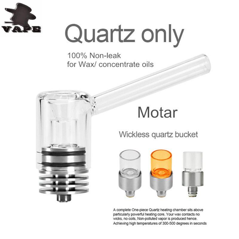 Longmada Motar Atomizer Vaporizer Wax Quartz Coilless Tank glass mouthpiece Vape Heating Chamber 510 thread glass mouthpiece vaporizer DHL