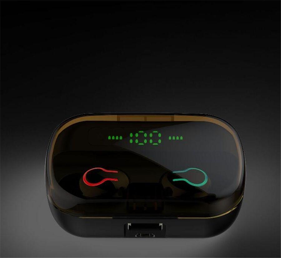 Bluetooth-Kopfhörer Echte Drahtlose Kopfhörer 5.0 Tws In-Ear Earbuds IPx5 wasserdichte Mini-Headset 3D Stereo Sound Sport Hörmuschel # OU120