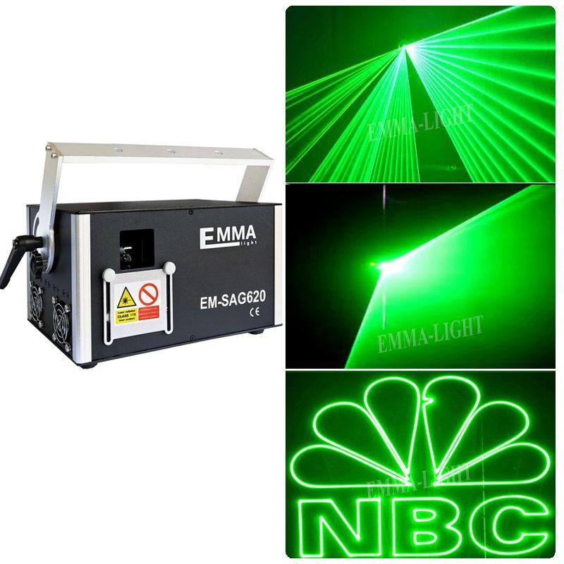 3D 2000mW خضراء ضوء الليزر المرحلة ILDA DMX نادي الحزب مع SD بطاقة 2W العارض