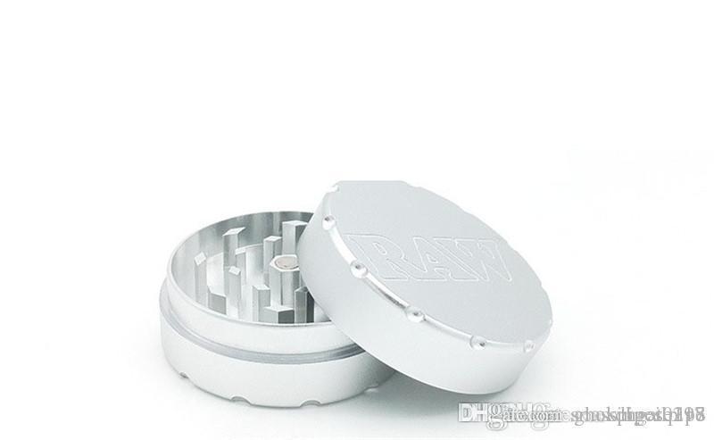 Amoladoras RAW CNC para amoladoras de metal para tabaco Match Glass Hand Pipe Hookahs 47mm RAW amoladora de hierba de tabaco metal para fumar