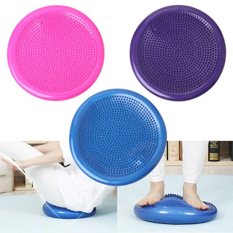 33x33cm Aufblasbare Yoga-Massage-Kugel Durable Universal Sports Gym Fitness Yoga Wobble Stabilität Gleichgewicht Disc Massagekissen Mat LSZqQ