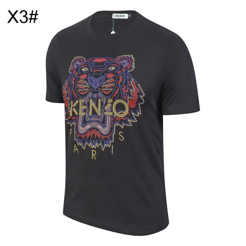 2020 Cabeza de tigre nueva llegada KenZ0 para mujer para hombre de manga corta camiseta de estampado de animales de la camiseta de manga corta bordado Hombres Mujeres camiseta B1015245T