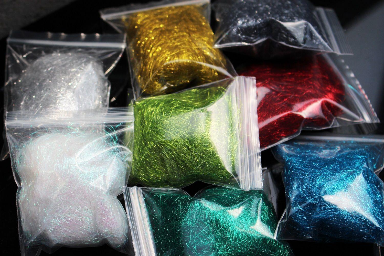Tigofly 8 цветов 2g ICE DUBBING Ice Dub Thread Wing Body Trout Нимфа Fly Fishing Шнуровка Материалы Зеленый Красный Золотой Silver Pearl