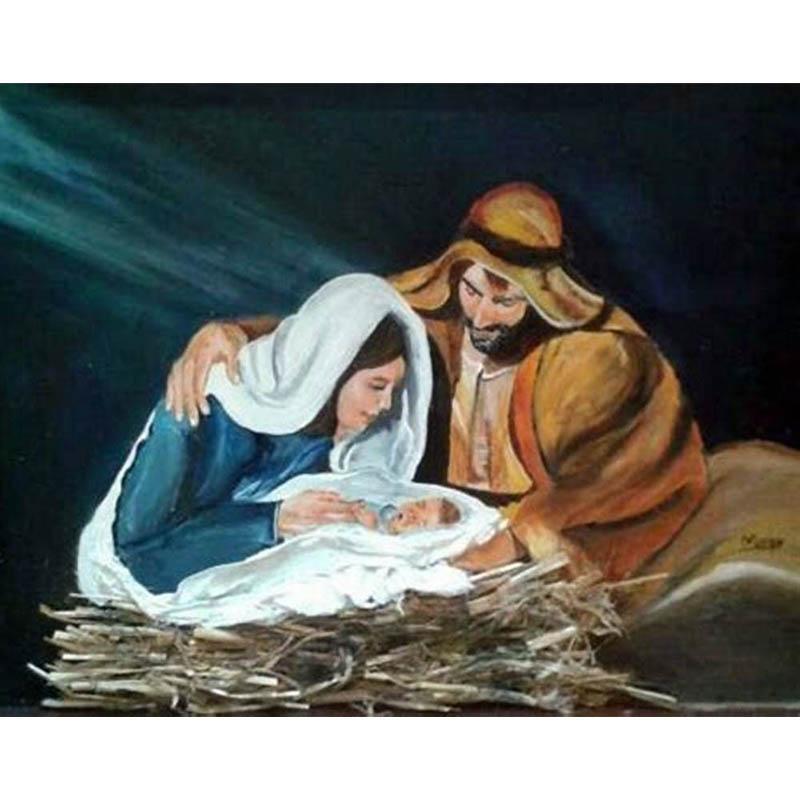 Navidad natividad Diy Diamante Pintura Punto de Cruz Religión Piedras del Strass Mosaico icon Jesús Diamante Bordado virgen María