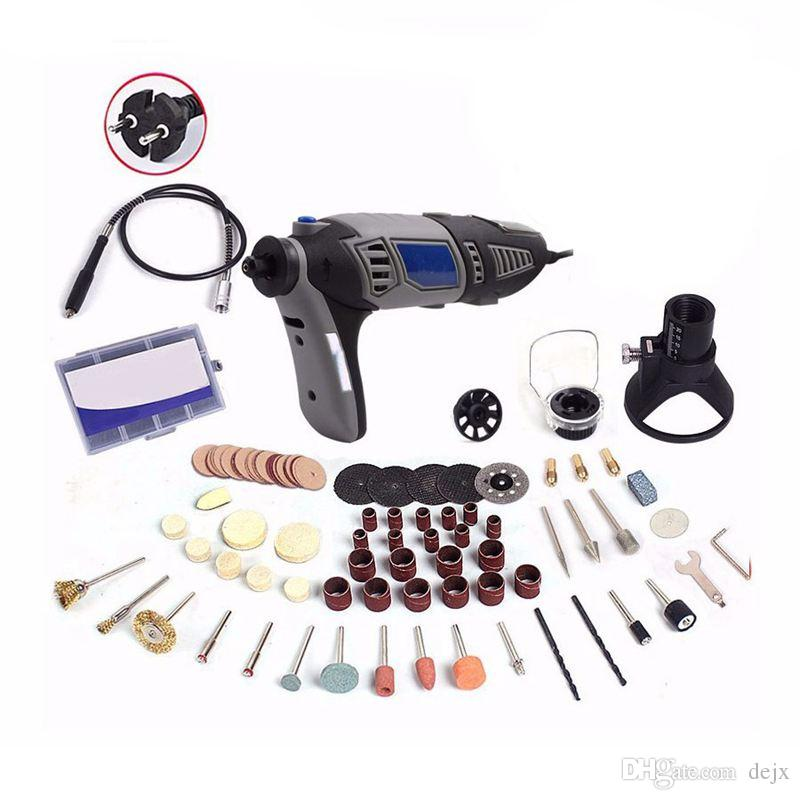 Mini Amoladora El/éctrica Taladro El/éctrico 0.5-3.2mm 16000 rpm Kit de Herramientas Rotativas 100-240V para Pulido enchufe de UE