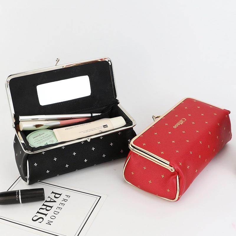 Maquillage de mode Sac femmes PU imperméable Pinceau Voyage Rouge à lèvres Organisateur Esthéticienne Sac cosmétique