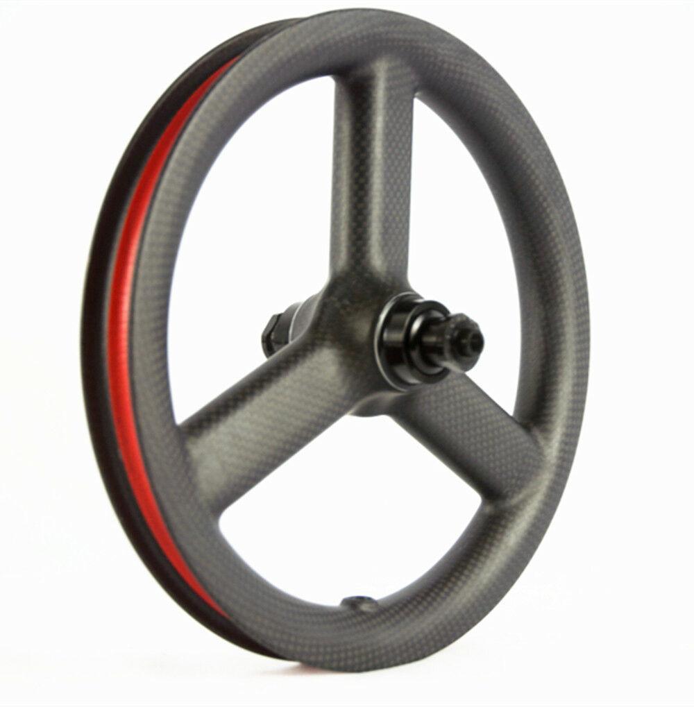 12 Inch 3 falou carbono Wheelset bicicleta carbono Rodas Kid Balance bicicleta rodas de bicicleta do impulso