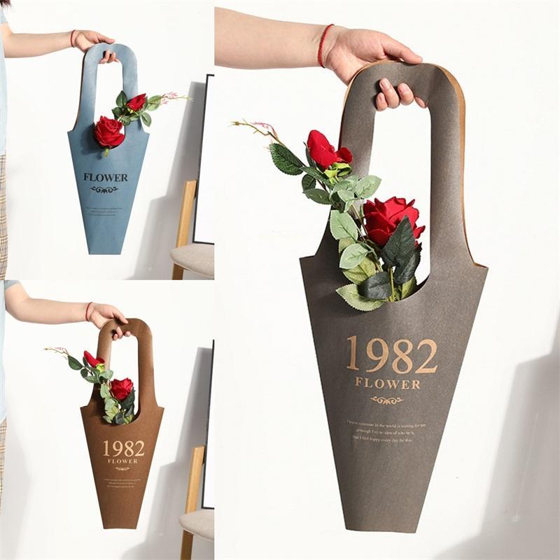 Material de papel Bolsas de envoltura de flores Prevenir el agua Flores Bolsa de embalaje Festival Envolturas de regalos Saco Nueva llegada 3 1xm L1