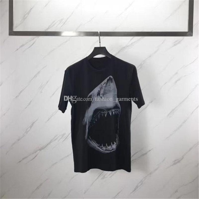 Mens estilista camiseta de los hombres de las mujeres de manga corta 3D Shark impresión mujeres de la camiseta Camisa Masculina estilista camiseta