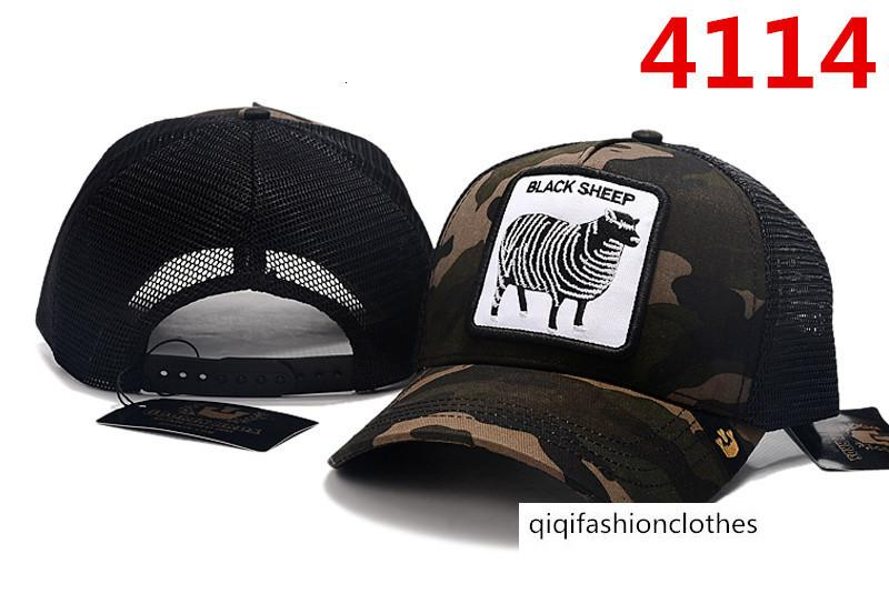 Brand baseball cap Goat cartoon embroidery leisure net cap sports sun hat
