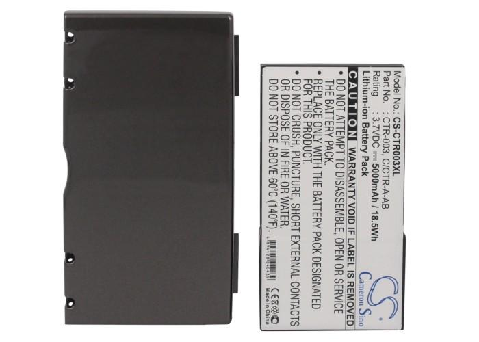 Cameron Sino 5000mAh Battery C / CTR-A-AB, CTR-003 pour Nintendo 3DS, CTR-001, MIN-CTR-001