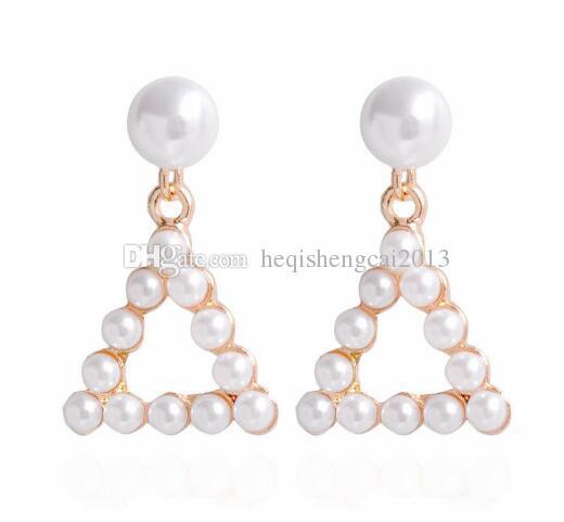 Livraison gratuite populaire version coréenne pendentif perle boucles d'oreilles gland longue style de mode classique élégance exquise
