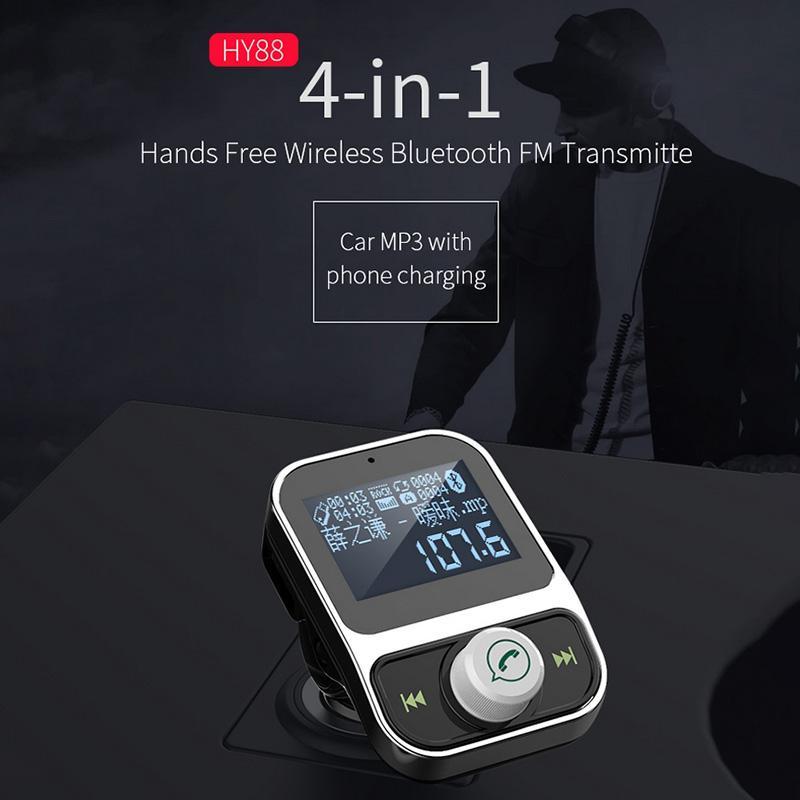 4 en 1 coche reproductor de MP3 Bluetooth manos libres de coche que llama encendedor de cigarrillos de doble USB