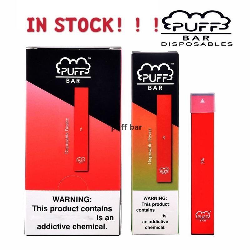 Designer vapePuff Bar descartável Vape Pens Capacidade vazio 1,3ml Vape cartuchos de 280mAh Bateria Starter Kit 18 cores FRETE GRÁTIS