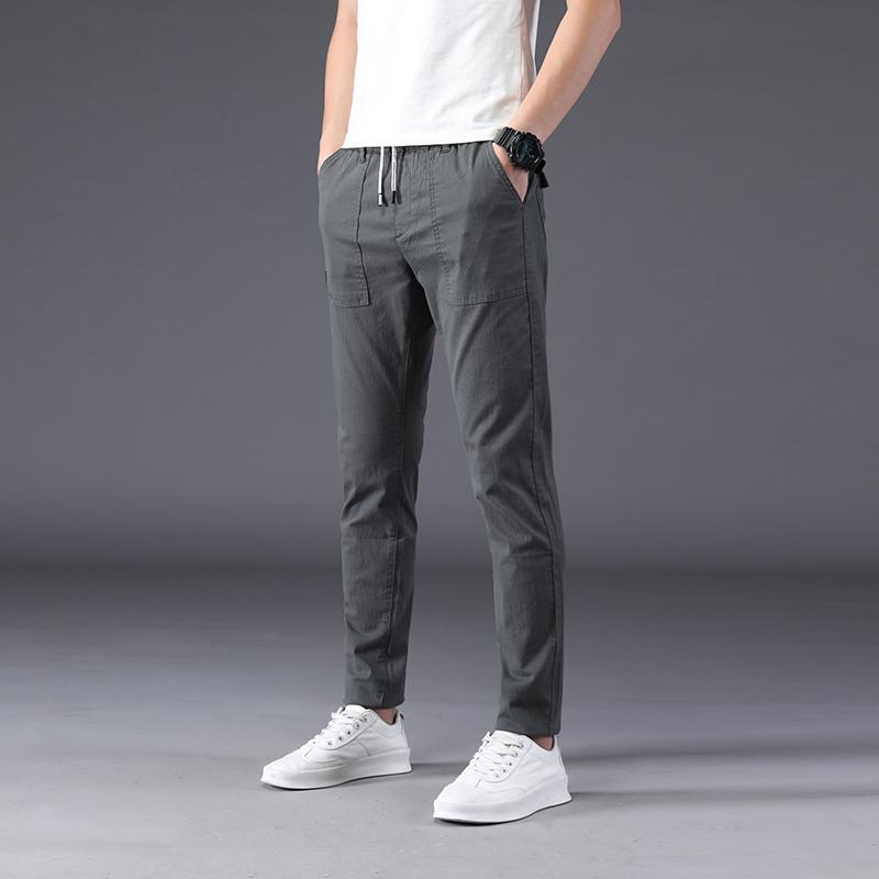 HCXY marque mens pantalon décontracté 2020 nouveau printemps et un pantalon long été pour les hommes version élasticité de la tendance masculine mince
