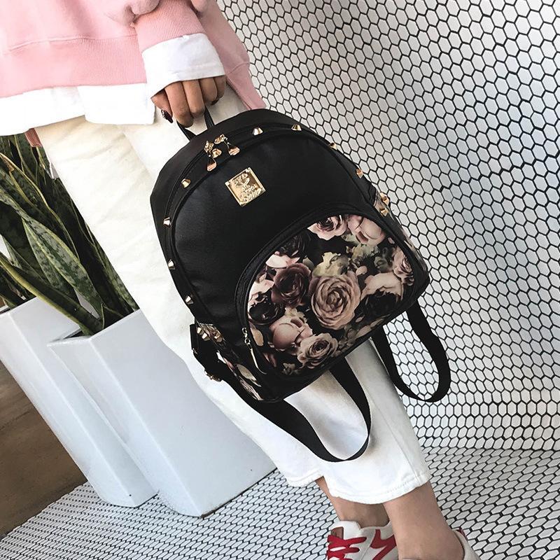 Lucky2019 Package Shoulders Both Woman All-match Tide Printing Backpack Travelling Bag