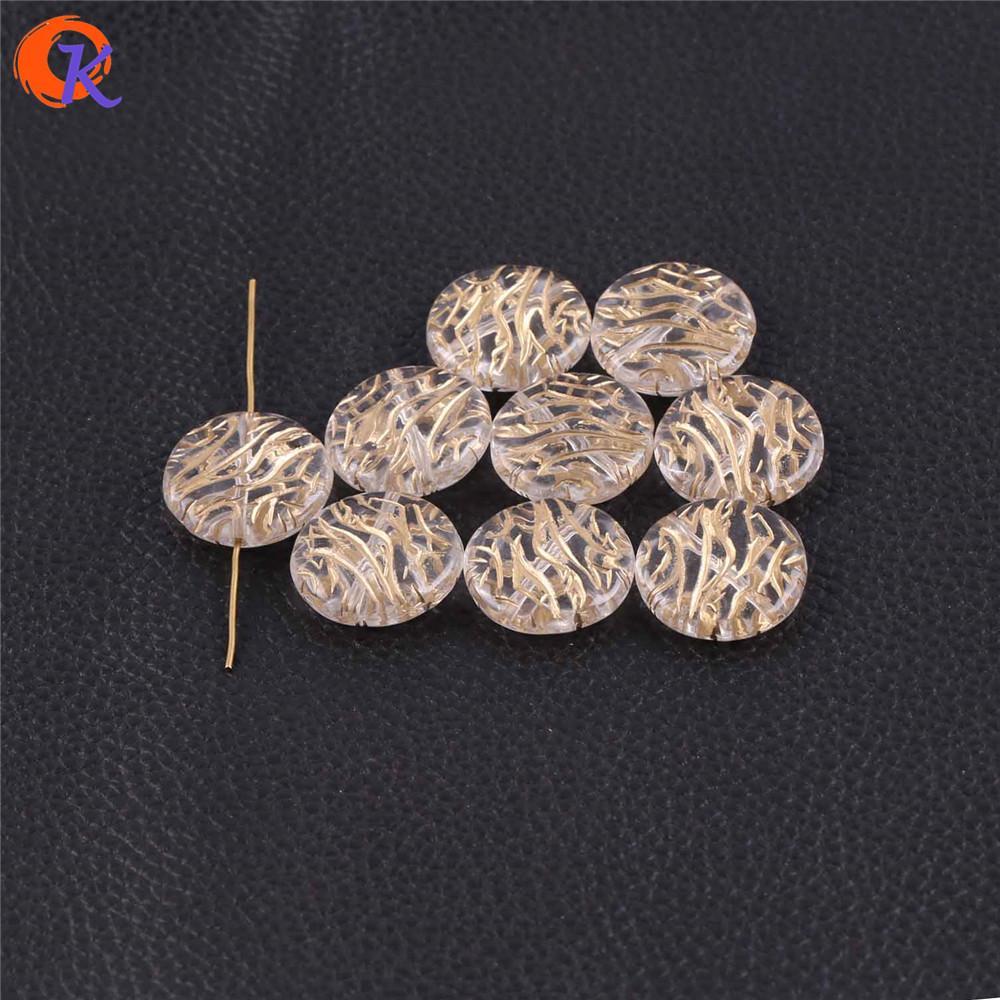 Commercio all'ingrosso 26x26mm 140 pz / lotto (design come mostrato) doratura chiara con antico acrilico moneta forma perline per monili che fanno