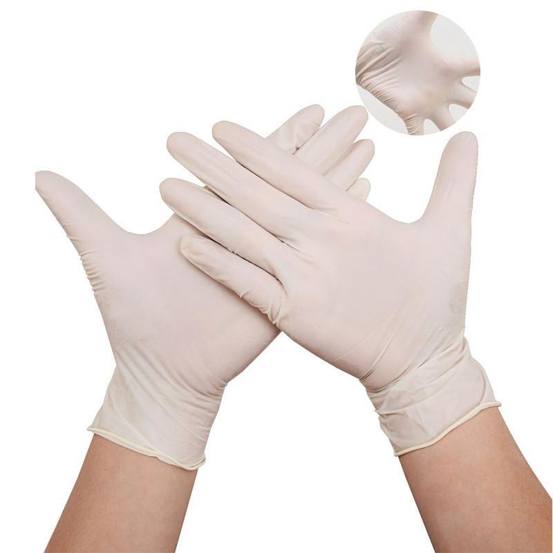 Luvas descartáveis 100pcs / lot de protecção de borracha nitrílica Luvas Luvas de fábrica Salon Household Rubber Jardim Universal Para mão esquerda e direita
