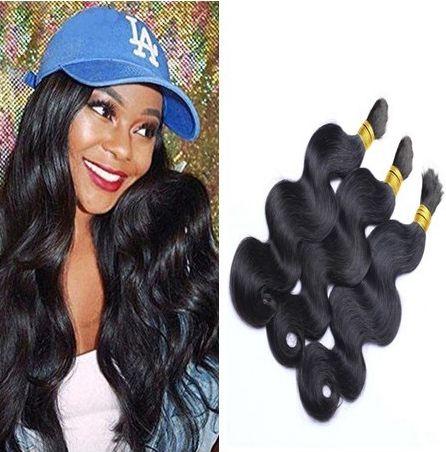9A cabelos a granel para trança micro mini 3 pcs lote 100% onda corporal ondulado extensões brasileiras