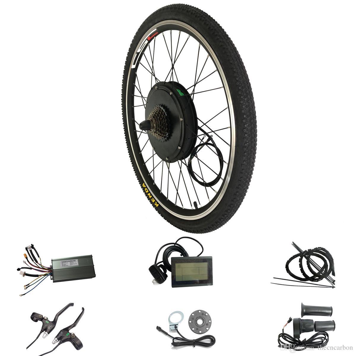 Kit de VTT électrique pour écran LCD 48V 1500W pour 20 24 26 700C 28 Kit de conversion pour vélo de roue arrière arrière de 29 pouces