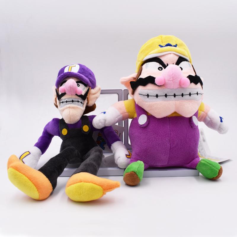 Super Mario Bros Waluigi Plush Doll Figure 11 inch Soft Stuffed Animal Toy Gift
