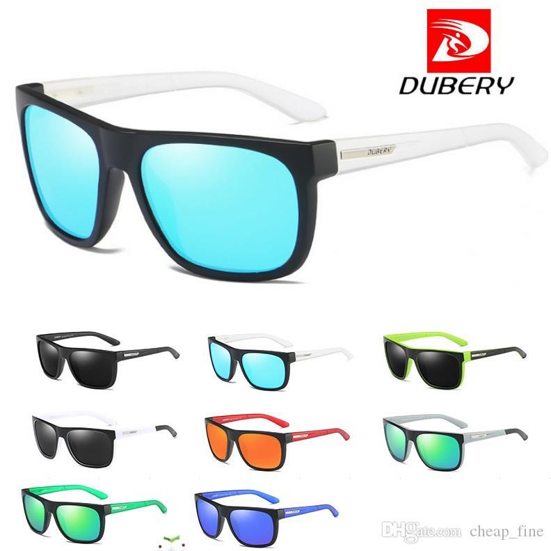 DUBERY Entwurf polarisierte HD Sonnenbrille-Mann-Fahrer-Schatten-männliche Sonnenbrille für Mann-Sommer-Spiegel-Quadrat-Sonnenbrille UV400 geben Verschiffen frei