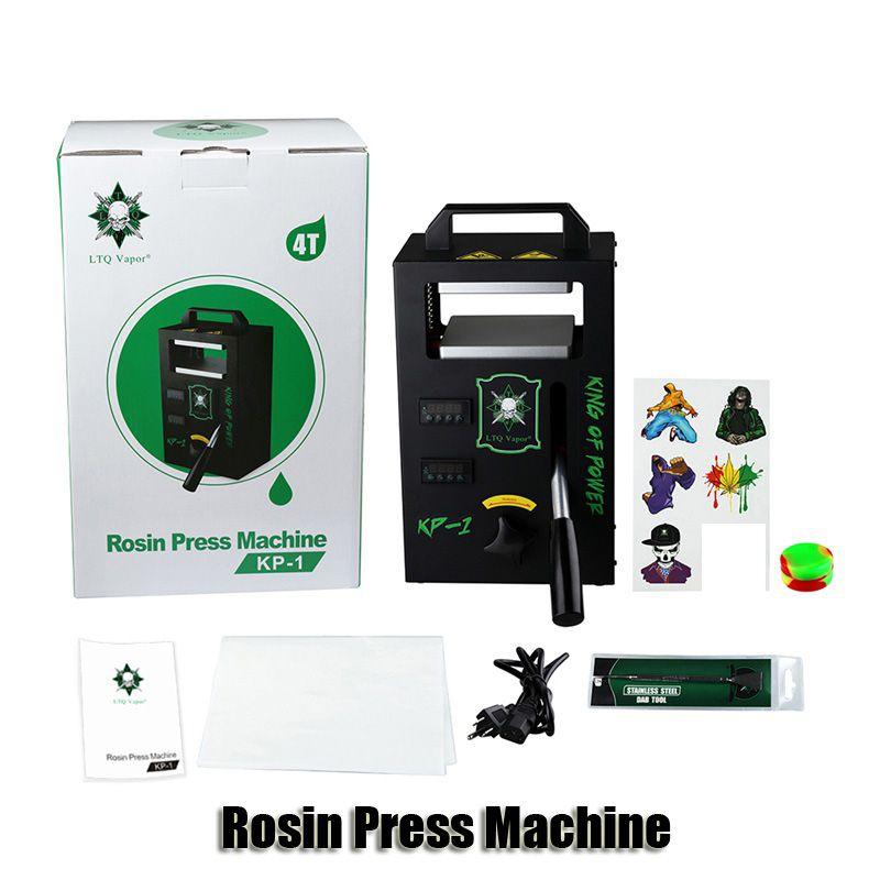 Original LTQ Vapor Rosin-Presse-Maschine KP-1 KP-2 Wax DAB Squeezer Temperatur Einstellbare Extrahierung Tool Kit Presser mit 4 Tonnen Authentic