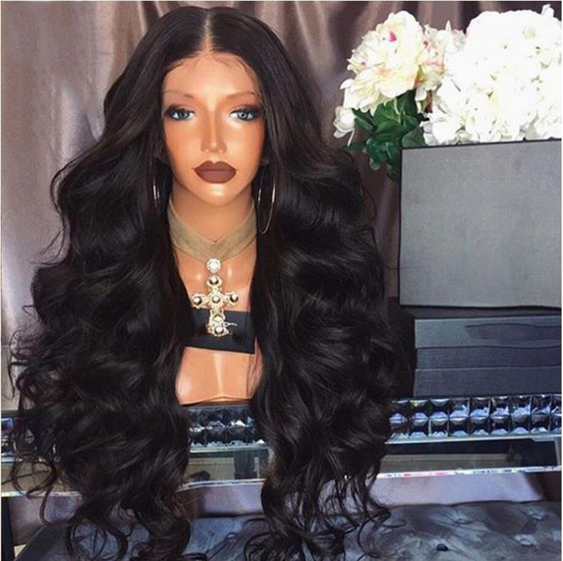 HD Lace Wig corps humain Cheveux ondulés Vague de dentelle perruques bleachable naturel dentelle noire perruque d'avant avec Hairline naturelle Envoi gratuit Bella Hair