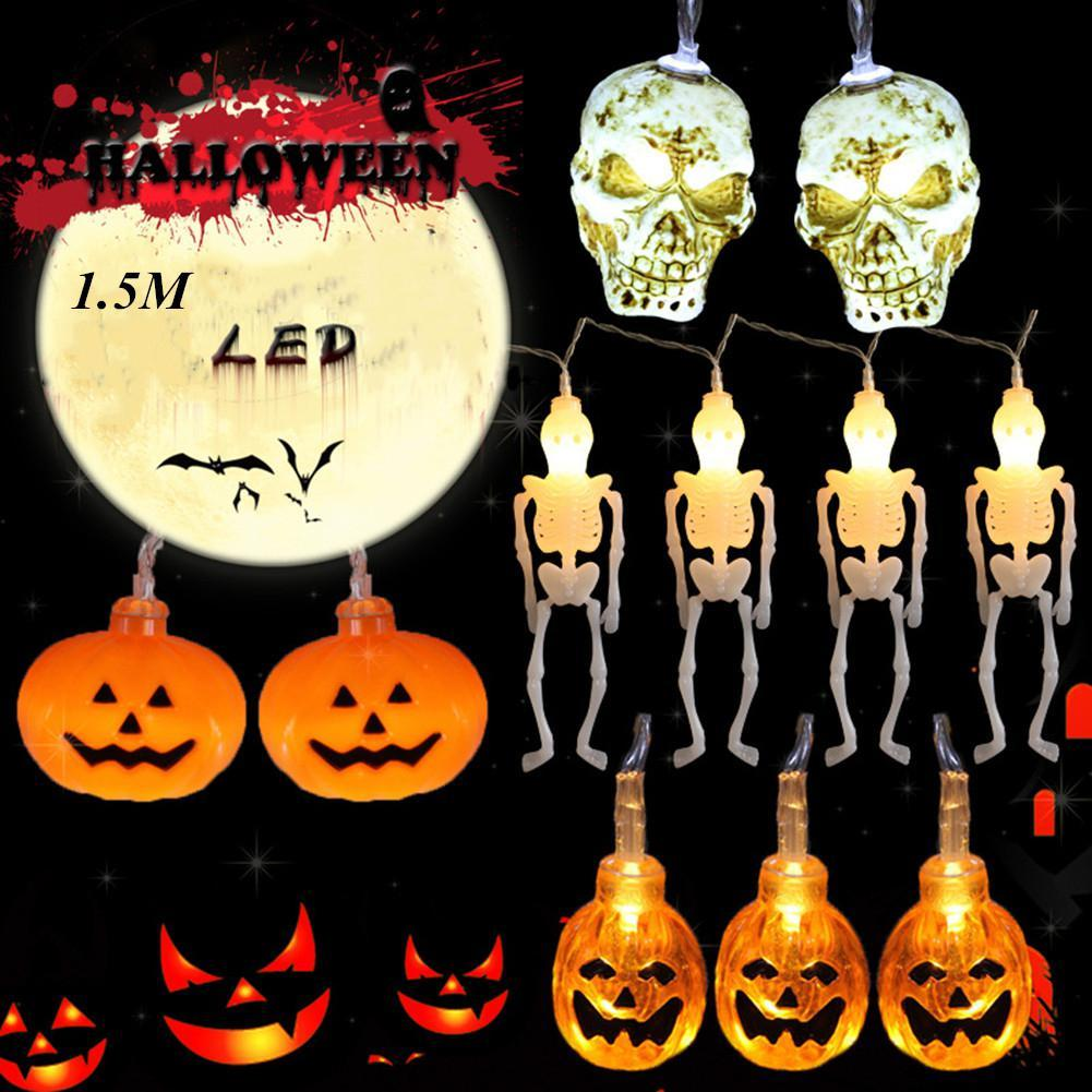 LED Light cordes gros citrouille / Skeleton / crâne Forme Veilleuse pour Halloween Party Bar Décor (sans batterie)