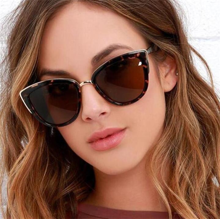 Femmes lunettes de soleil de luxe 2019 Vintage dégradé Lunettes rétro oeil de chat Des lunettes de soleil Femme Lunettes UV400