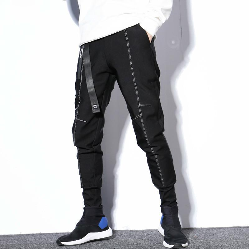 # 2322 Inverno Velo Calças Dos Homens Quentes Com Cinto Mens Corredores Hip Hop Harem Pants Calças Dos Homens de Algodão Streetwear Pista Plus Size XXXL