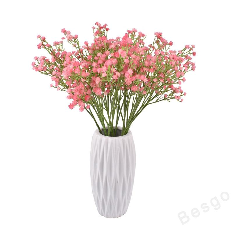 Yaratıcı Yapay Çiçekler Renkli Gypsophila LongStem Sahte Çiçek Buket Nefes İpek Çiçek Bitki Ev Düğün Dekorasyon DBC BH2907