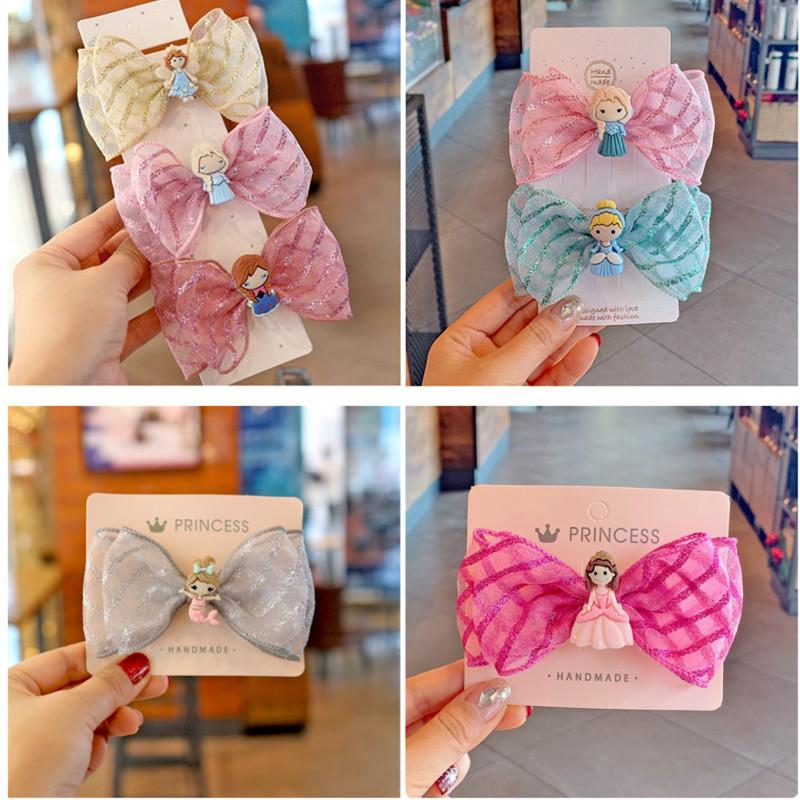 14pcs/lot Fashion Sweet Hair Bows Hairpin For Kids Girls Colors Shiny Ballerina Hairpin Children Barrettes Hair Accessories