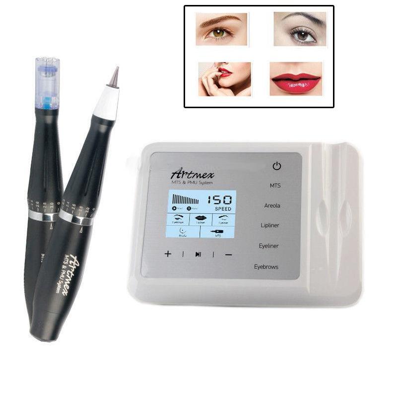 Перманентный макияж МТС ПМУ система Artmex V9 татуировки ручка машина бровей Ротари в 2019 году
