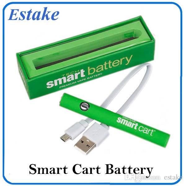 Smart Cartridge Preheat Variable Voltage Battery 510 Thread 380mah Rapid Pre-heat Smart Battery Vape Pen Fit Smart Carts 0266267