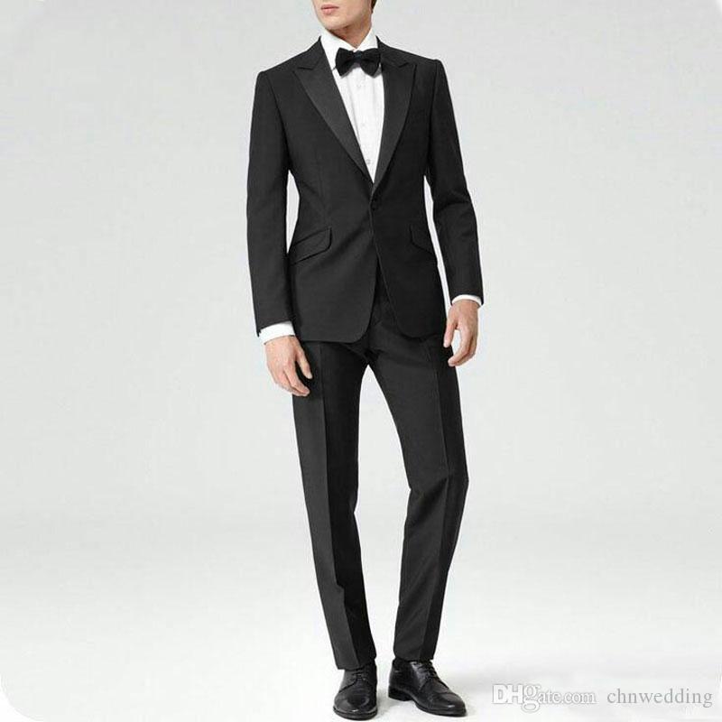 Düğün Slim Fit Damat Smokin 2piece Sağdıç Blazer Terzi Damat Suits için Erkekler Suit (Coat + Pantolon) Kostüm Homme Terno Masculino