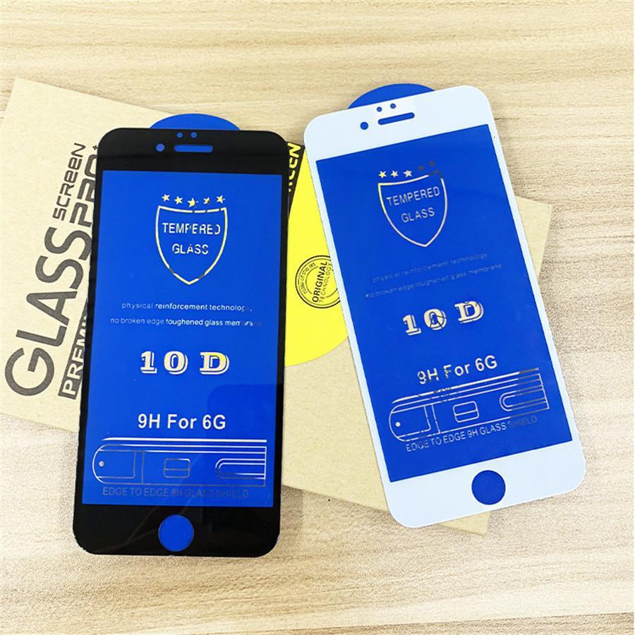 Vente en gros 10D écran en verre trempé avant la pleine protection Film transparent transparent pour iPhone 11 X Xr Xs Xs Max 8 7 6 iphone