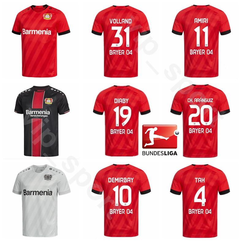 19 20 Soccer Bayer 04 Leverkusen 19 DIABY Jersey 8 BENDER 20 Aránguiz 4 TAH 18 WENDELL 31 Volland HAVERTZ Football Shirt Kit