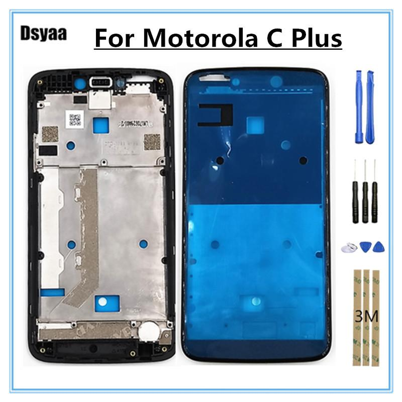 5.0 Inch for Motorola Moto C Plus Middle Frame Front Bezel Housing Cover Holder LCD Faceplate Free Shipping with Tools