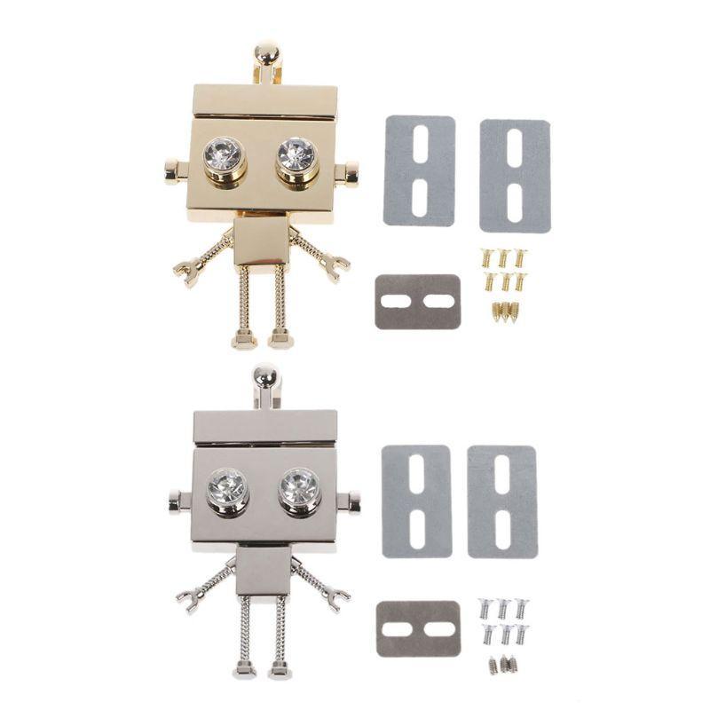 Fashion New Robot Shape Chiusura Turn Lock Twist Locks Hardware in metallo Fai da te Borsa di ricambio Borsa a tracolla Accessori borsa