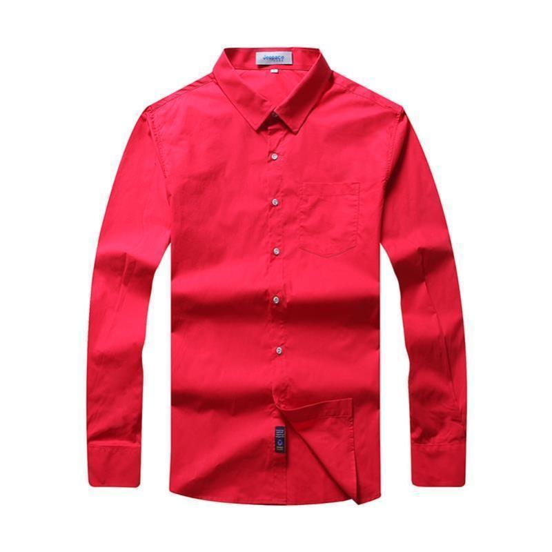 Grande taille 8XL 7XL 6XL Patchwork bouton blanc col à manches longues sergé affaires hommes robe formelle haut de chemises hommes solides