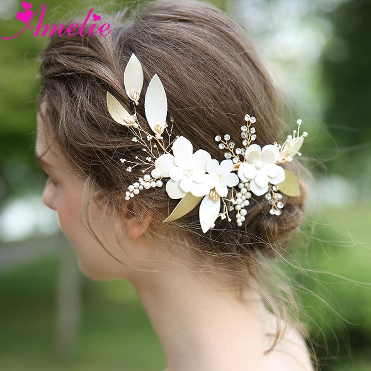 Nostalgic Hair Style 2019 New Feather Flower Wedding Decoration Hair Clip Bridal Accessories Side Hairclips