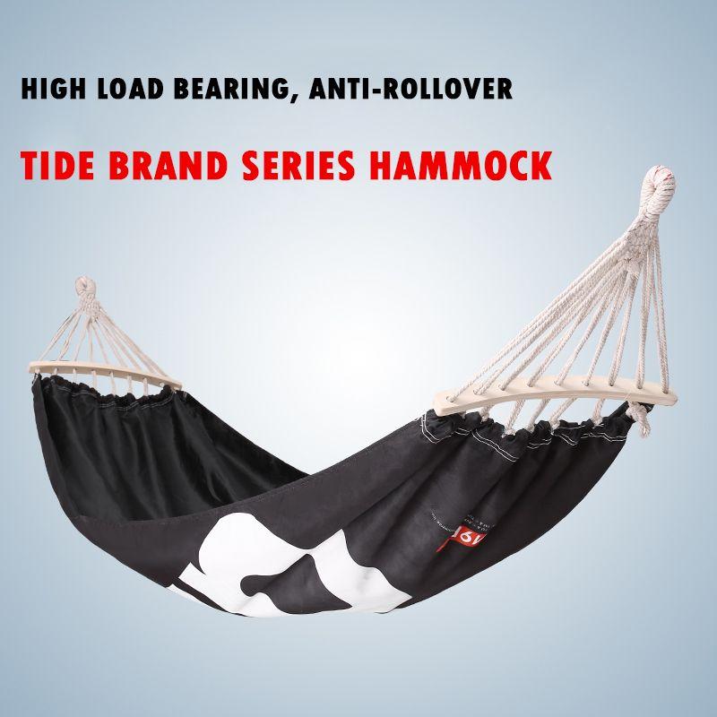 De moda al aire libre Hamaca engrosamiento cojinete 300KG recorrido que acampa libre cama colgante familia Hamaca balanza portátil