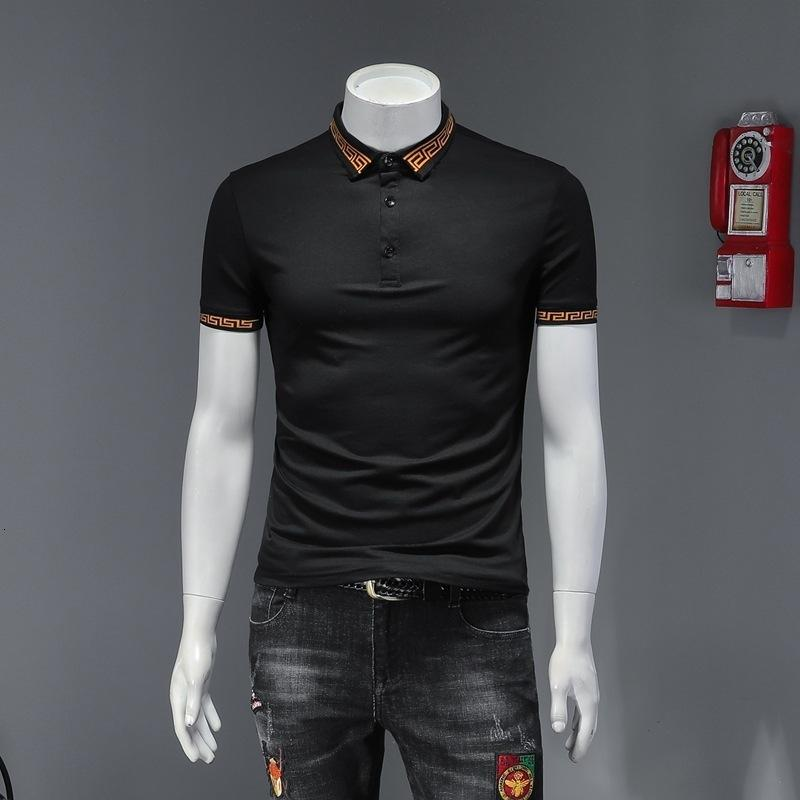 2020 hombres de alta calidad de manga corta de moda de verano camiseta casual cómodo cuello redondo camiseta ropa de moda MJ3K