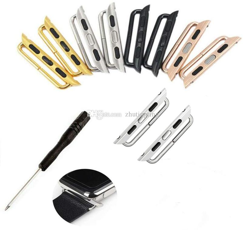 اتصال ووتش الشريط موصل الفولاذ المقاوم للصدأ محول استبدال المعادن ووتش الشريط مع استبدال أداة لشركة آبل حزام 38MM 42MM