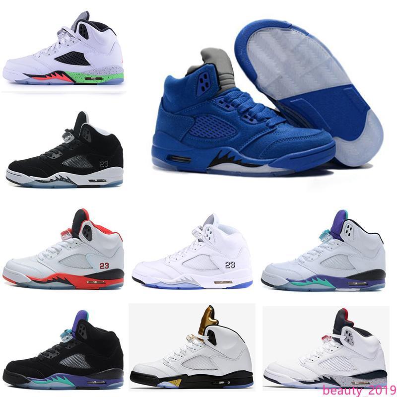 erkekler Kamuflaj tenekeci NRG yakınlaştırma 5s V Grey Red sude'ait Moda rahat ayakkabılar eğitmen Sneakers chaussure için yeni Man Basketbol Ayakkabı