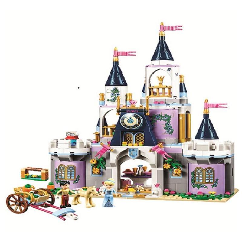 طوب حلم القلعة مبنى للتربية DIY كتل 10892 الأصدقاء الأميرة سندريلا ألعاب بنات متوافق Lepining