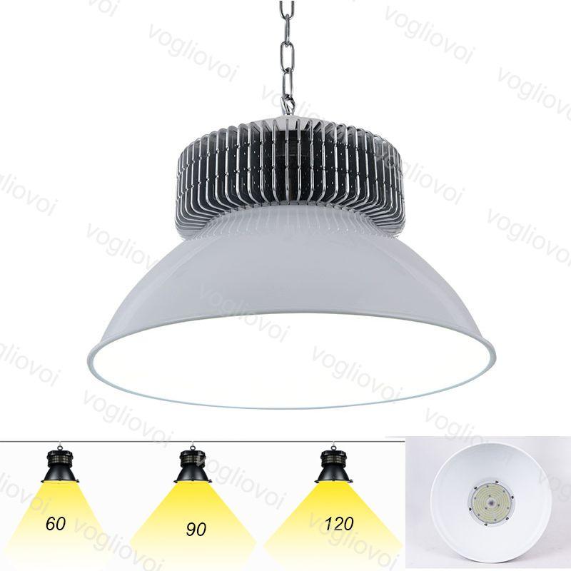 LED عالية الخليج أضواء 80RA SMD3030 50W 100W 150W 200W الإضاءة الصناعية رمادي 120 درجة غطاء الألومنيوم الرادياتير مستودع المرآب ورشة DHL