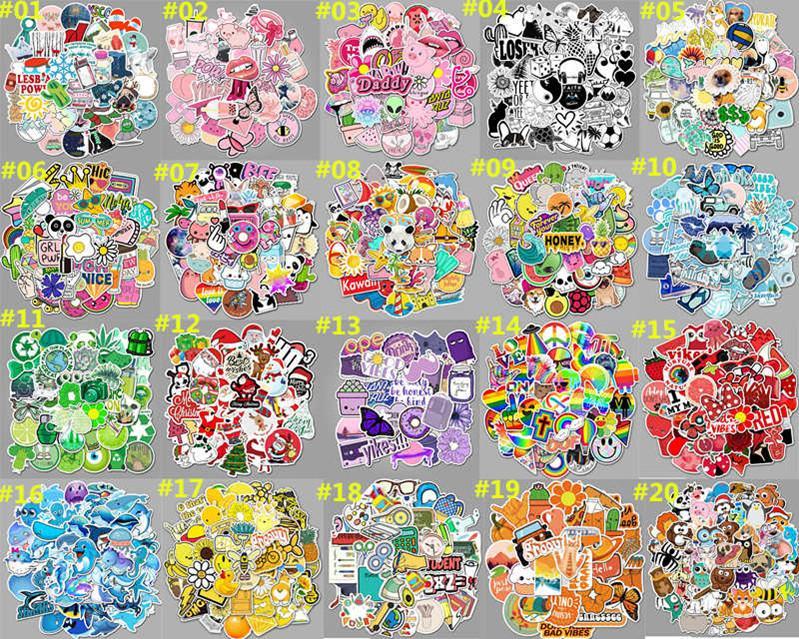 50 para o pequeno fresco etiqueta cartoon grafite mala xícara de água skate geladeira roxo adesivos à prova d'água pode ser personalizado